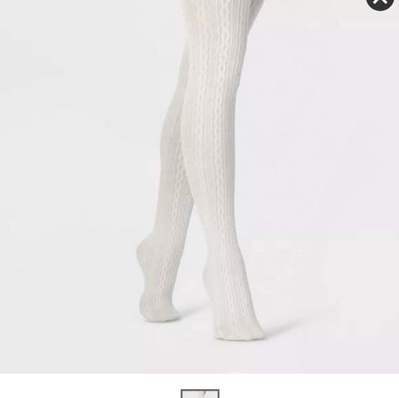 Fleece Lined cable knit tights NWT